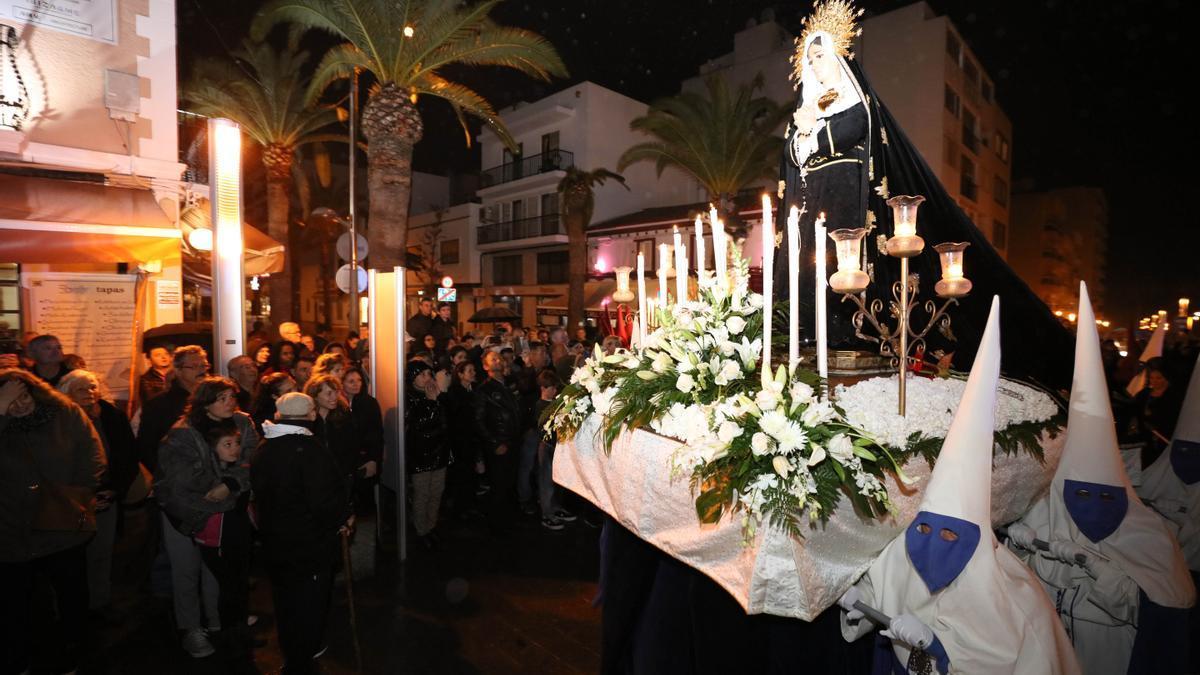 Procesión de viernes Santo en Santa Eulària en 2019