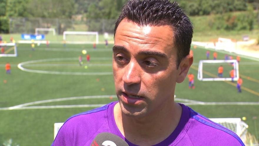 """Xavi admite por primera vez que """"valorará"""" una oferta del Barça si la recibe"""