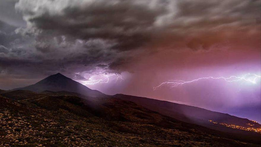 Canarias registra el doble de rayos que en años anteriores