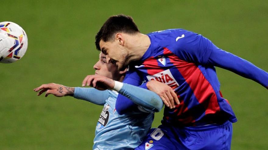 Un error del Celta de Vigo posibilita el empate del Eibar