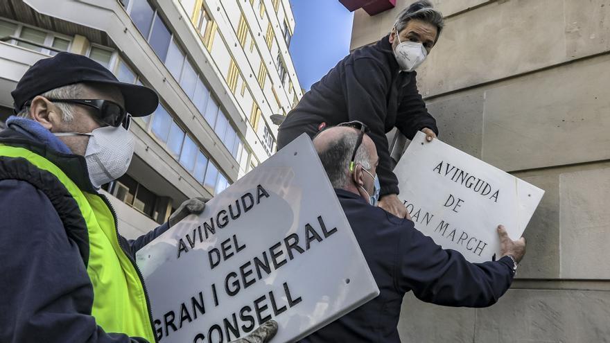 Ciudadanos pide que se repongan las placas quitadas