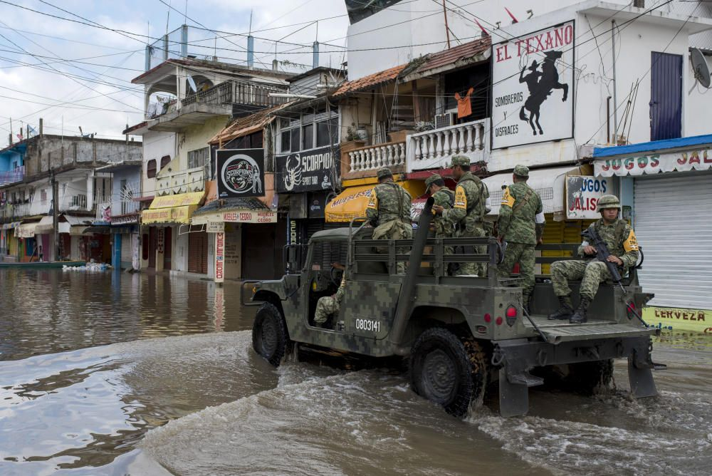 El paso del huracán Willa por México