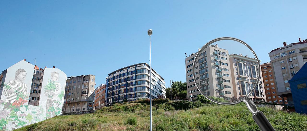 Bloques de edificios en Vigo