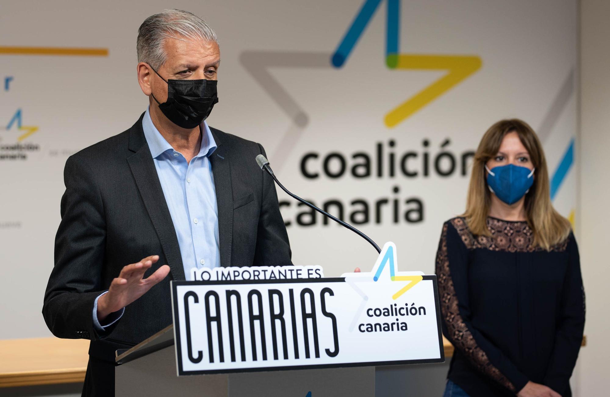Linares registra su candidatura a secretario general insular de CC