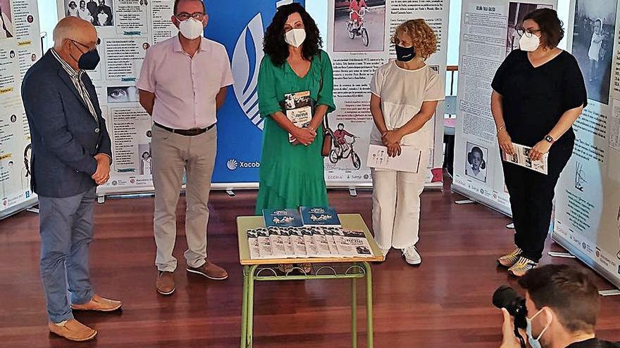 La muestra sobre Xela Arias abre en la biblioteca de Miño