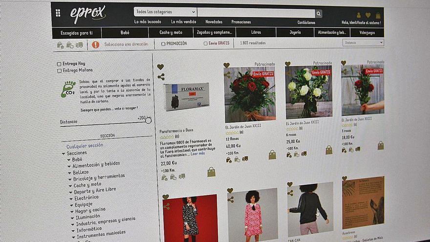 Más de 450 pequeños comercios venden ya 'on line' a través de la plataforma Eprox
