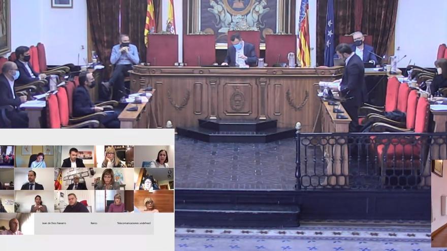 """PP, Vox y Cs se vuelven a unir frente al """"atropello"""" del ejecutivo de Elche"""