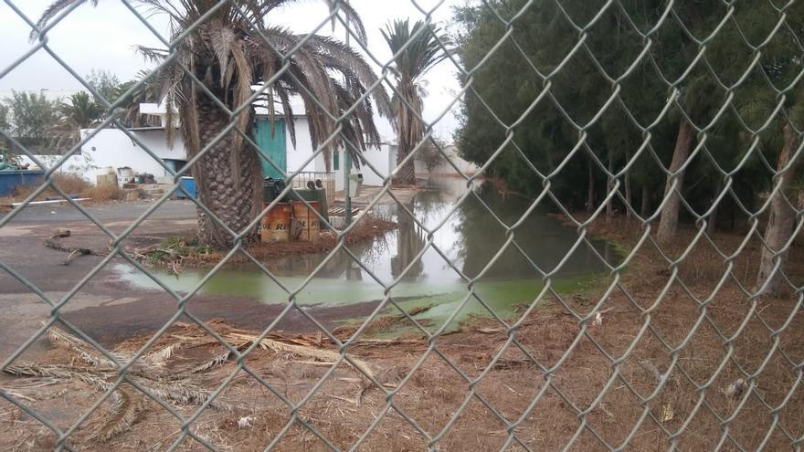 Vertido de aguas residuales en Argana Alta, Arrecife (Lanzarote)