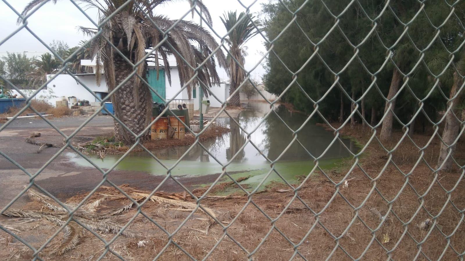 Vertido de aguas residuales en Argana Alta, Arrecife (Lanzraote)