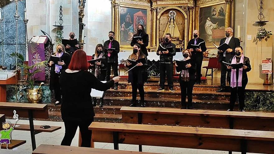 Duquesa Pimentel graba el concierto de la Pasión de Benavente y lo ofrece de modo virtual