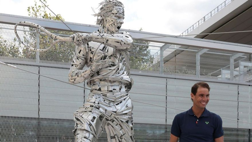 Nadal, immortalitzat en una estàtua de 800 quilos d'acer