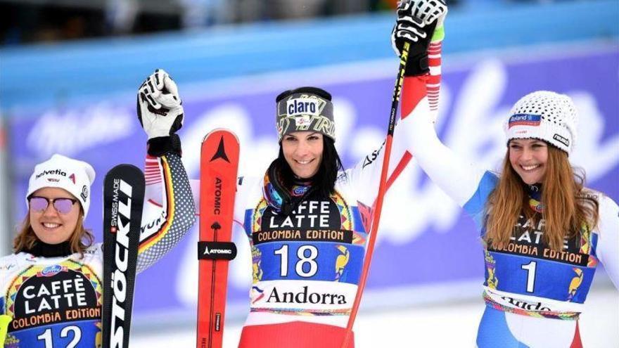 Puchner da la sorpresa en el descenso femenino de Grandvalira