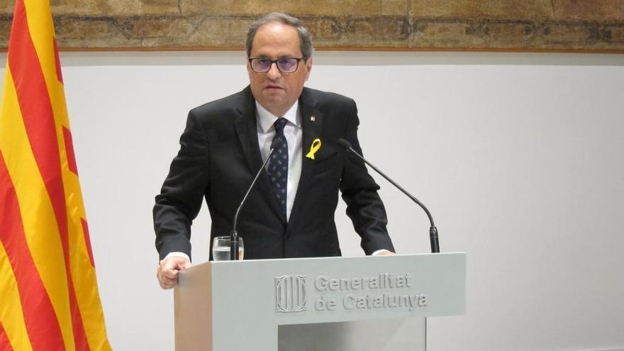 Torra demana a Cospedal respecte pel dret dels catalans «a la seva democràtica, lliure i pacífica autodeterminació»
