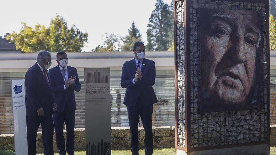 Cumbre hispanolusa en Guarda   Sánchez y Costa inauguran una placa conmemorativa que simboliza la relación transfronteriza
