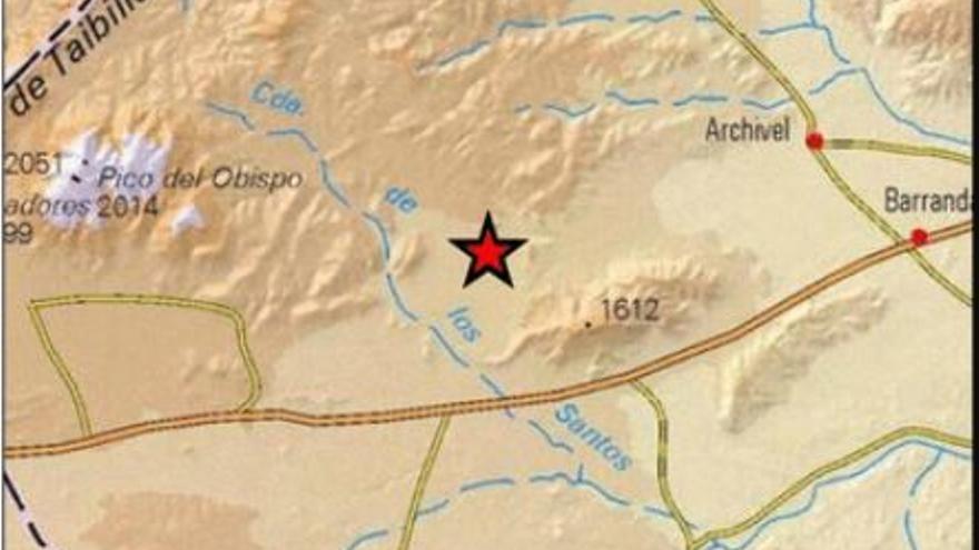 Un terremoto de 2,3 grados hace temblar Caravaca de madrugada