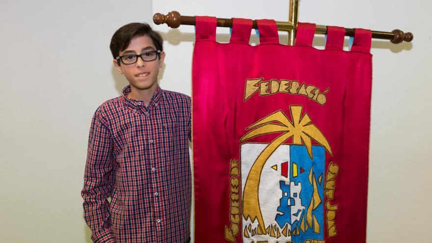 Iván Gómez, de la comisión Sant Blai de Dalt, nuevo banderín de las Hogueras