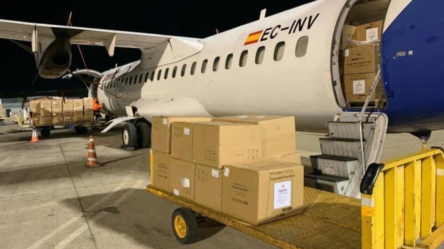 Sieben Tonnen Hygienematerial auf Mallorca gelandet