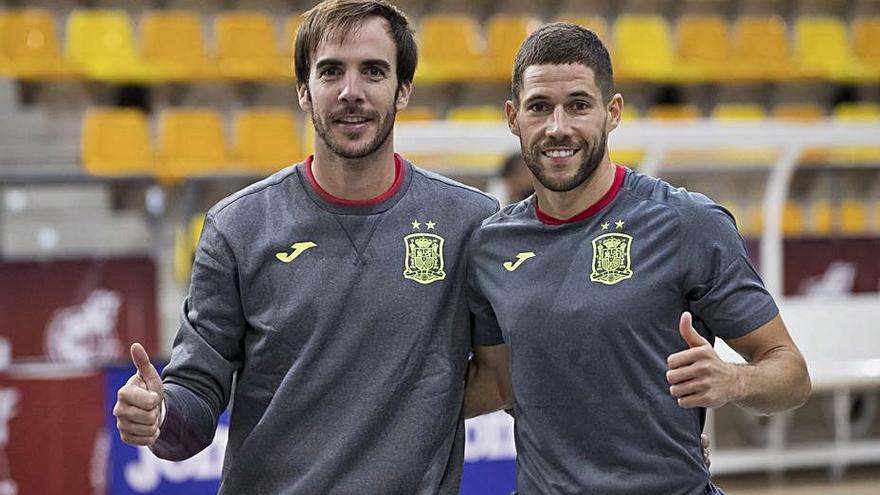 Carlos Barrón y Raúl Campos se concentran con la selección española