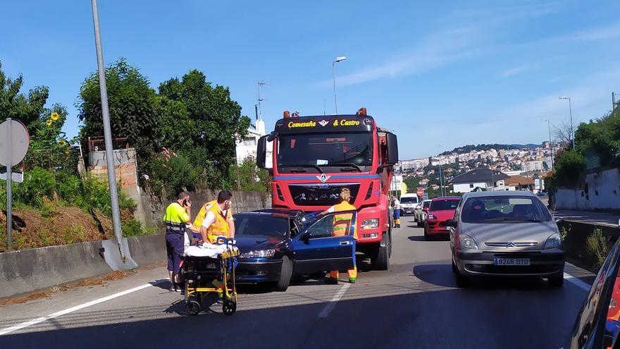 Un herido en una colisión en la A-55 en Vigo
