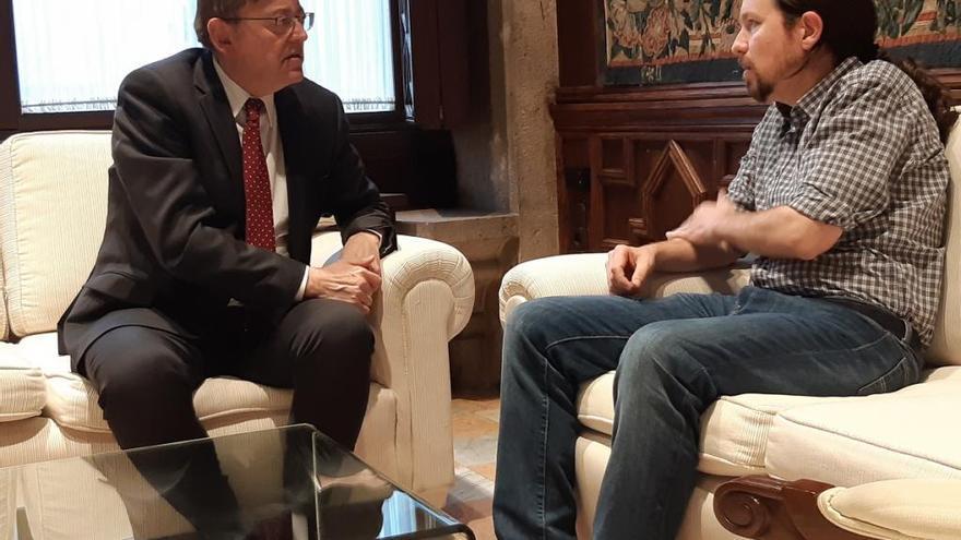 Puig encuentra en Iglesias un aliado para su modelo de Estado