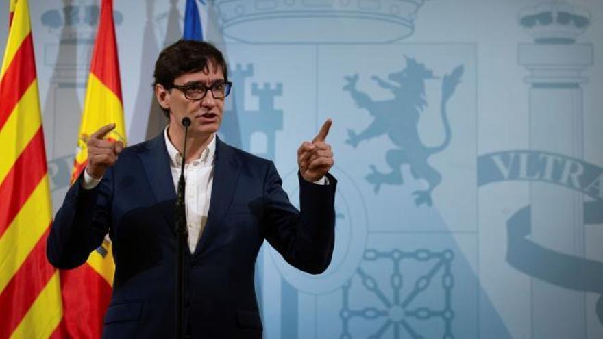 """Salvador Illa emplaza a Madrid a """"escuchar a la ciencia"""" y a """"revisar sus decisiones"""" ante la situación de """"serio riesgo sanitario"""""""