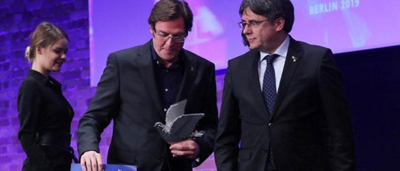 Puigdemont aprovechó la gala para ofrecer un discurso político.