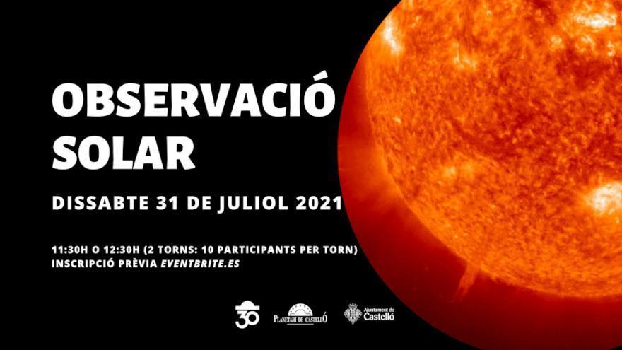 Observación Solar en el Planetari