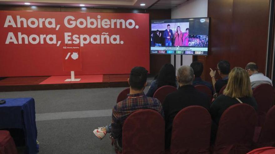 Noche electoral en el PSOE en Canarias