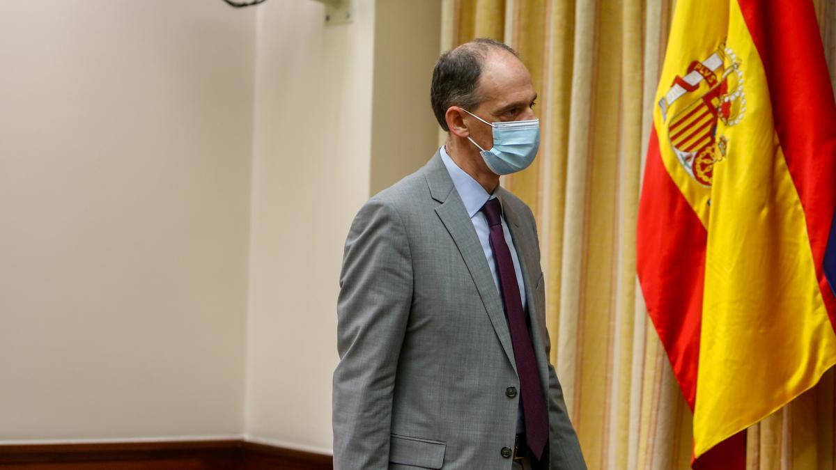 El inspector de la Policía Manuel Morocho, a su llegada a la Comisión de Investigación sobre la utilización de medios de Interior para favorecer al PP.