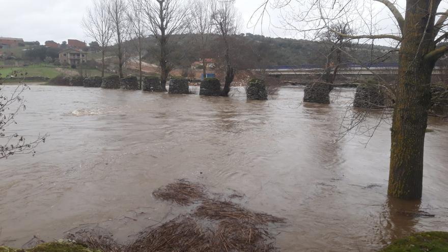 La intensa lluvia desborda los ríos Aliste y Frío en Las Torres, Bercianos y Valer