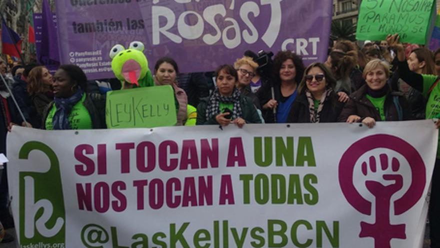"""Las """"kellys"""" están a 37.000 euros de abrir su página web de turismo justo"""