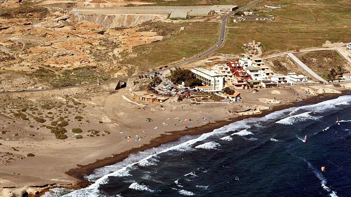 Leocadio Machado beach, in Granadilla de Abona.