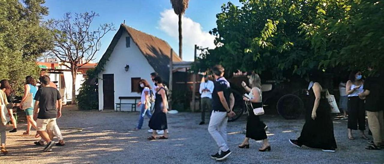 El acto se celebró en la Barraca de Toni Montoliu.   S. ROS