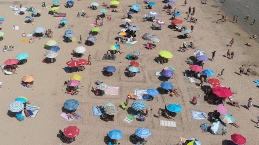 La pandemia ordena la playa