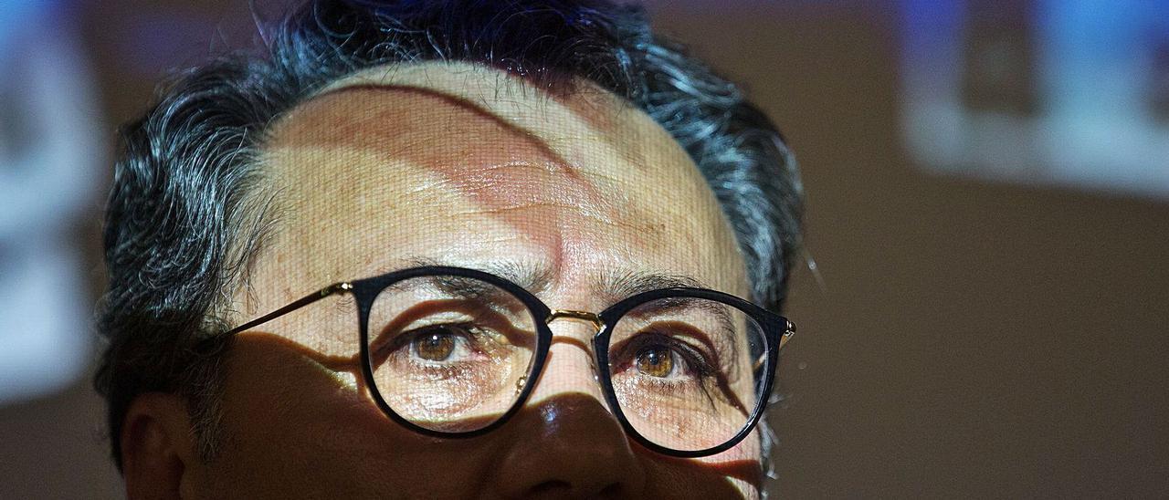 El portavoz municipal socialista, Francesc Sanguino, en una imagen de archivo previa al estallido de la pandemia de coronavirus. | ALEX DOMÍNGUEZ