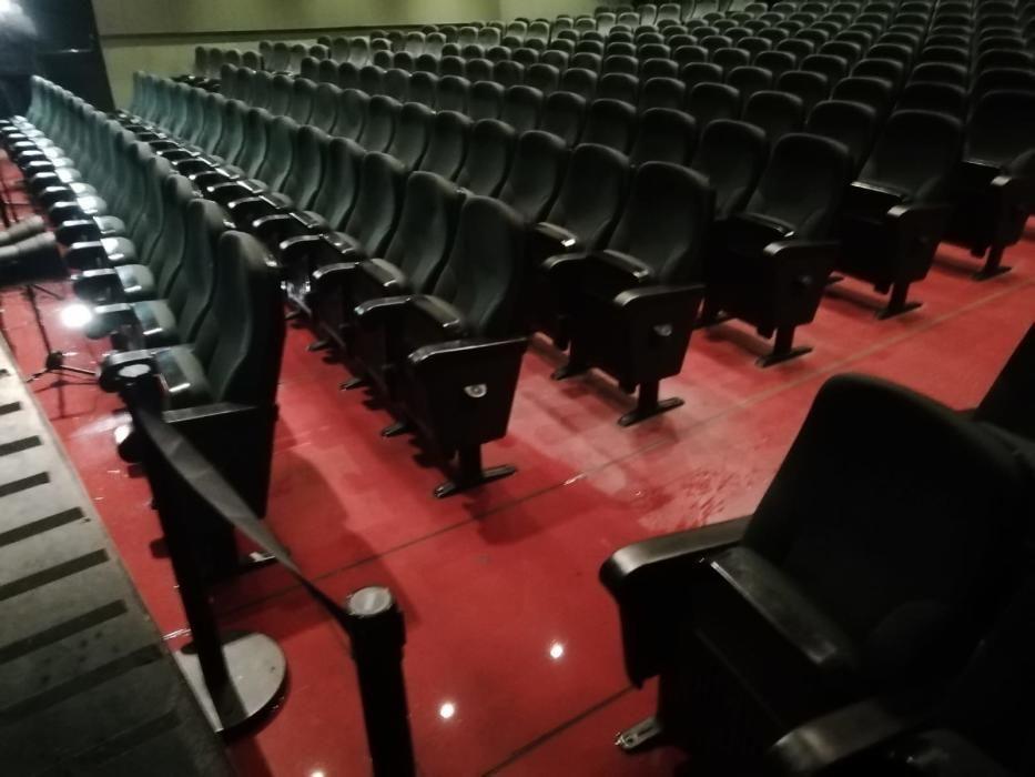 Inundació al Teatre Municipal de Berga