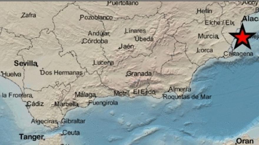 La costa de Torrevieja registra un terremoto de 1,9 grados de magnitud