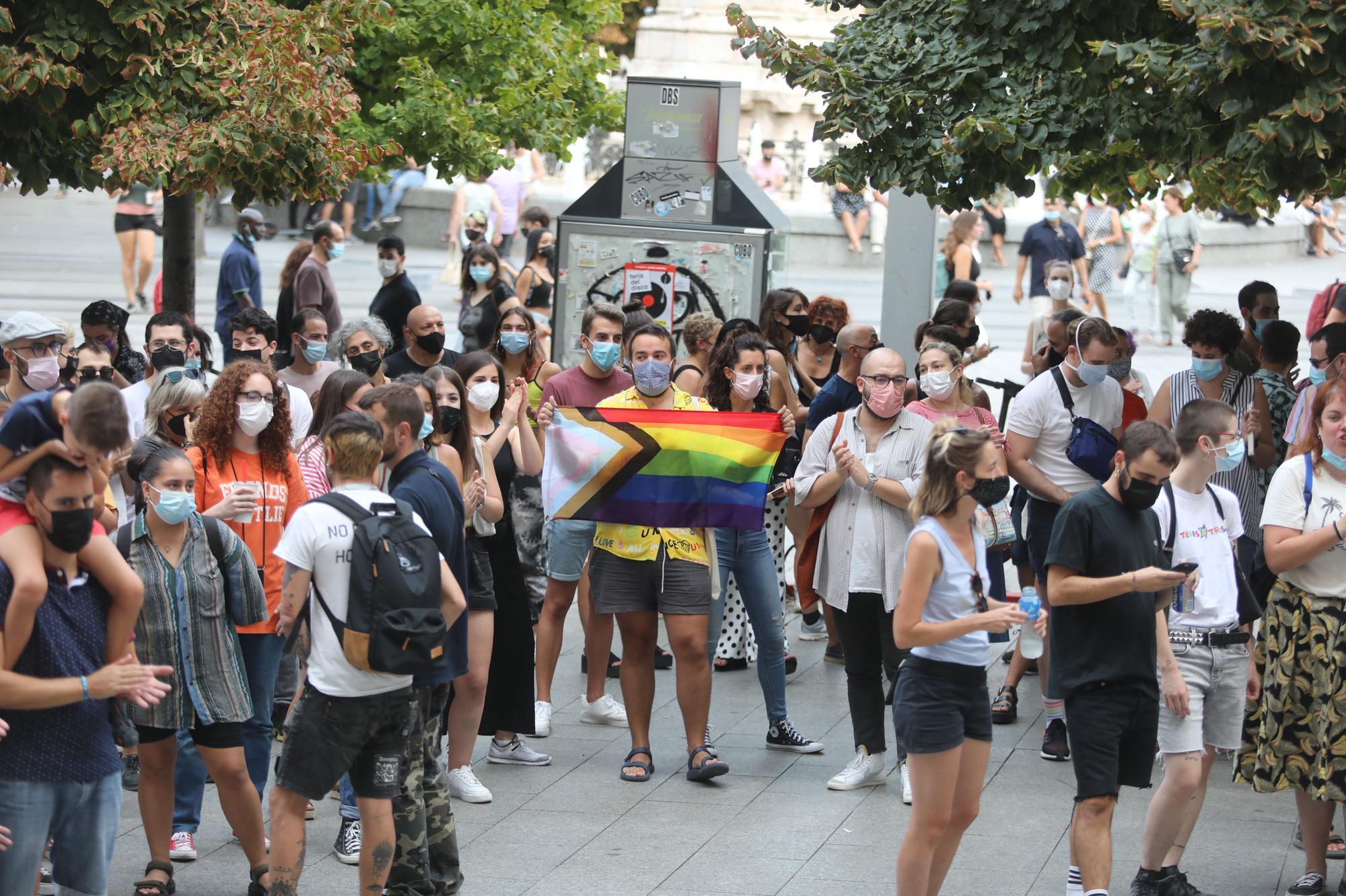 Concentración contra la homofobia en Zaragoza el 11 de septiembre