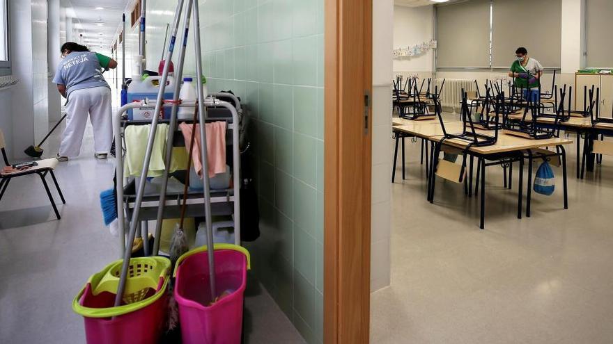 """Así será la """"limpieza anticovid"""" de los colegios de Alicante: siempre habrá personal en todos los centros"""