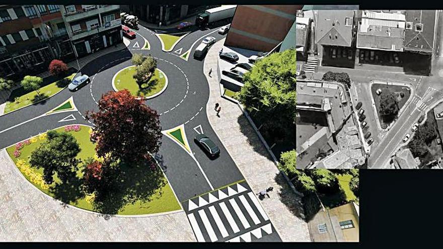 Gondomar pide la remodelación de la rotonda de Elduayen a la Xunta