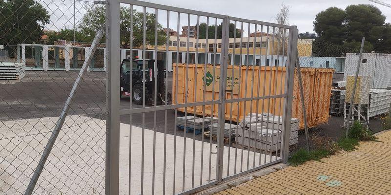 Así avanza la construcción del 'provisional' colegio Herrero de Castelló