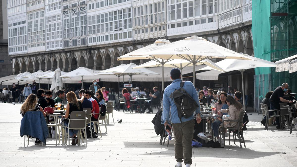 Terrazas en A Coruña.