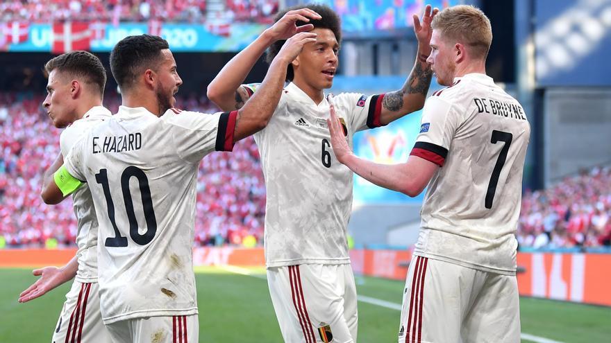 Bélgica remonta a Dinamarca y ya está en los octavos