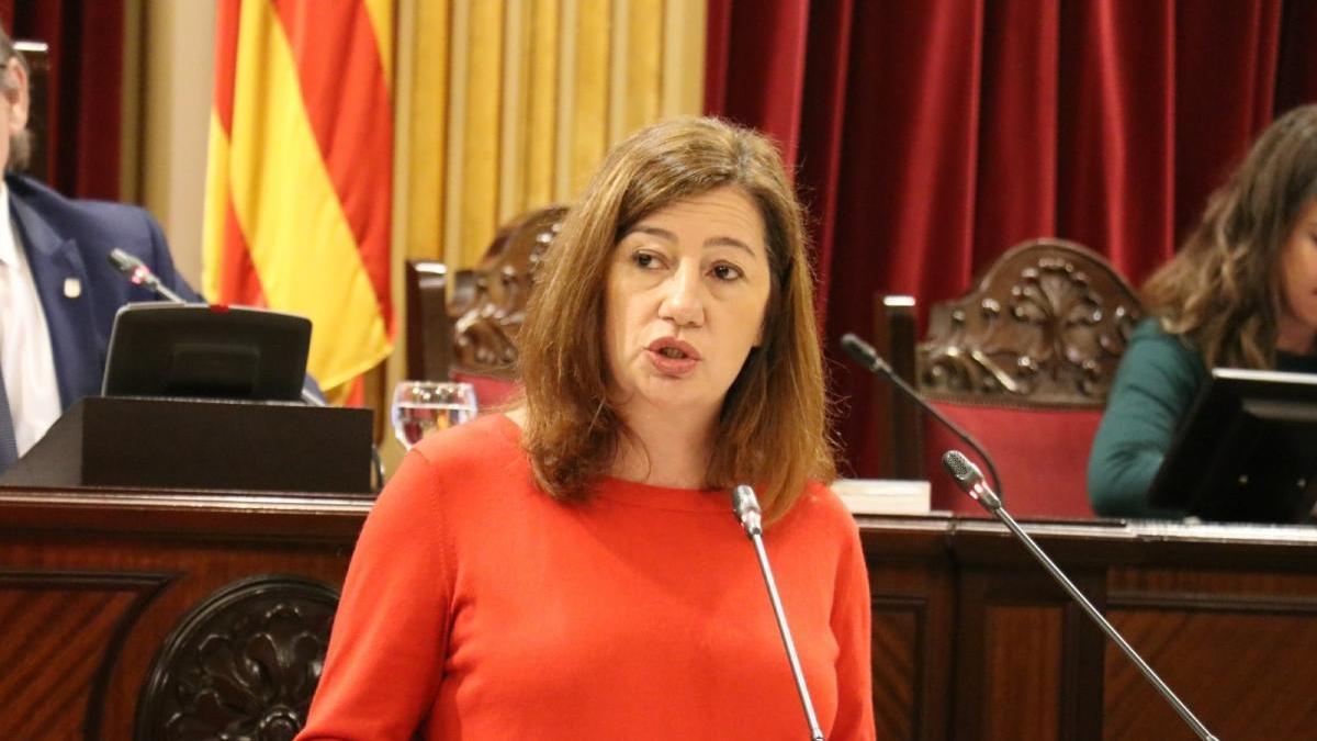 Armengol tendrá que comparecer de forma urgente en el Parlament