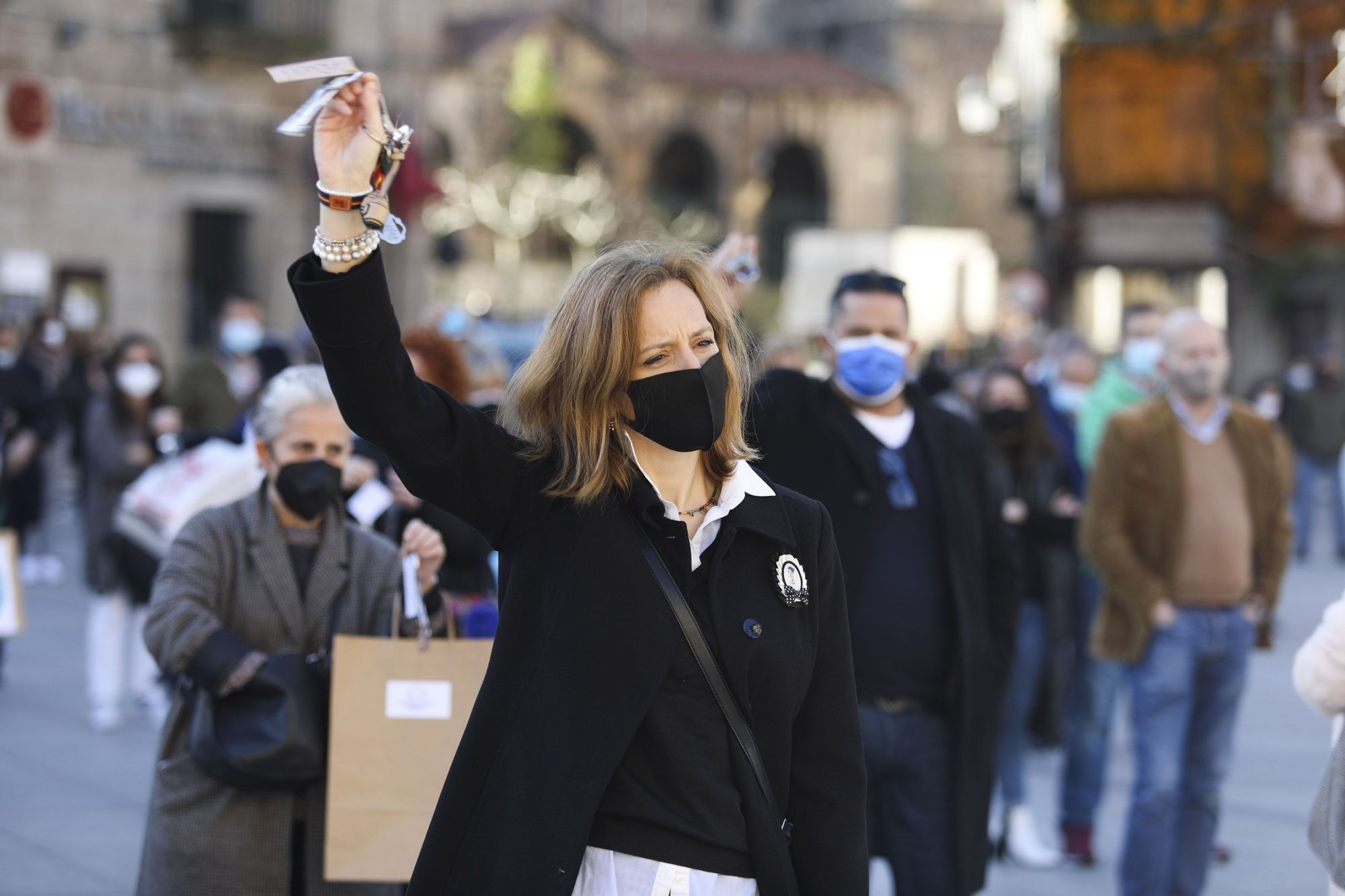 Manifestación de la hostelería en Avilés