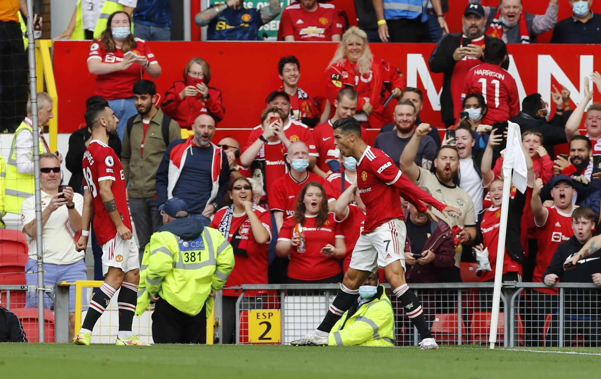 Cristiano Ronaldo se estrena de nuevo con el Manchester United