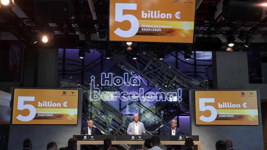 Seat invertirá 5.000 millones de euros en España hasta 2025