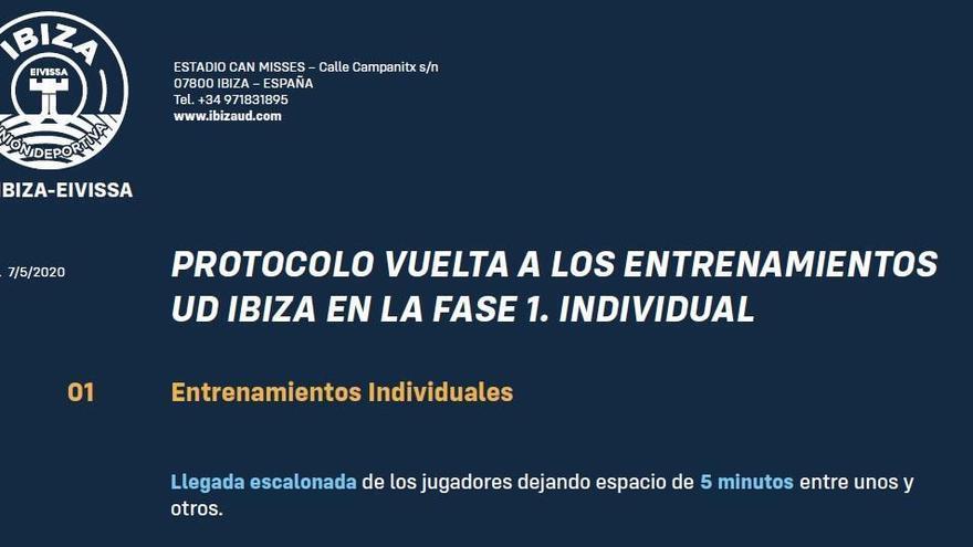 La UD Ibiza defiende su protocolo ante las críticas por su vuelta a Can Misses