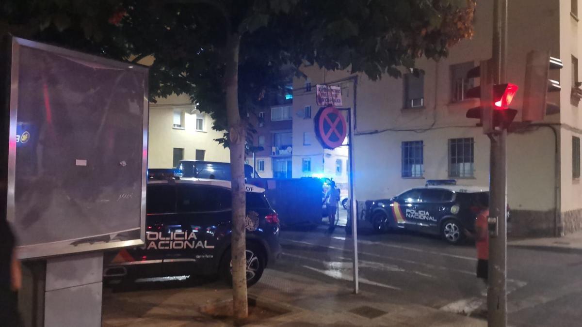 Imagen de la zona de Castelló donde ha saltado la alarma por el pequeño incendio.
