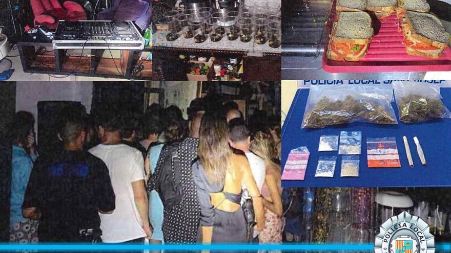 Unas 40 personas, de fiesta en una tienda de ropa de Ibiza desalojada por la Policía